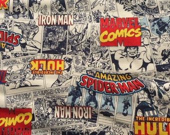 Super Special half price Avengers comic  fabric One yard Super heroes