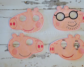Peppa Pig Inspired Masks