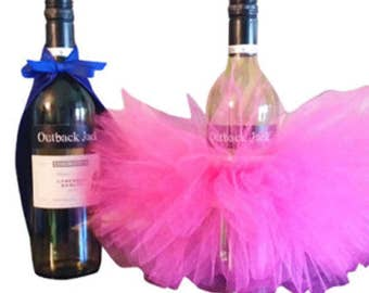 Wine Bottle Tutus-Custom Colors-Wine Tutu-Centerpiece-Baby-Bridal-Tuxedo-Super Hero Cape