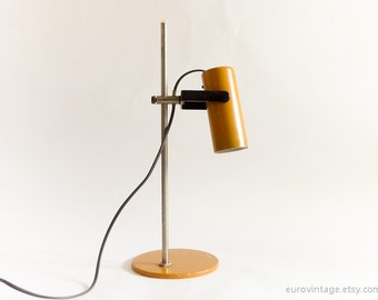 Vintage Table Lamp / Desk Lamp 70s 80s Mustard Spotlight Lamp