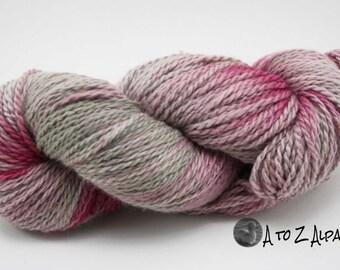 Hand Dyed Royal Baby Alpaca Yarn Chunky Weight 233 yards Silver Tulip