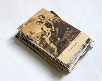 SALE - 75 Vintage Art Postcards Blank - Wedding Guestbook