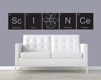 Science CUSTOMIZABLE wall decal Periodic Table elements Classroom decor teacher education bazinga decor kids room student classroom teacher