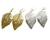 Gold Leaf Earrings, Silver Leaf Earrings, Gold Leaves Earrings, Silver Leaves Earrings, Gold Silver Earrings, Leaves Earrings, Leaf Earrings