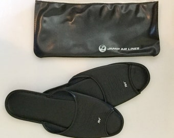 Vintage JAPAN Airlines Travel Kit // Slippers and Shoehorn