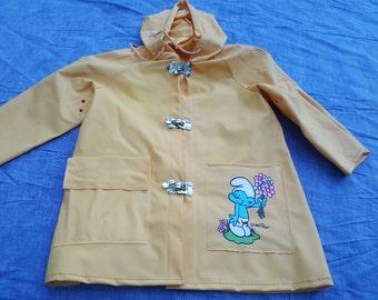 Vintage Childs Smurf Rain Jacket sz 3