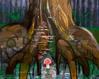 "8 x 8"" art print: Creekbed"