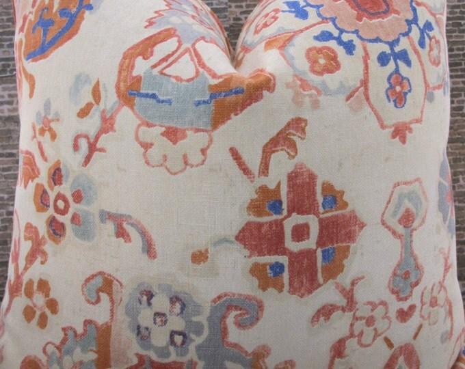 Designer Pillow Cover  - JRDM Floral Motif Berry