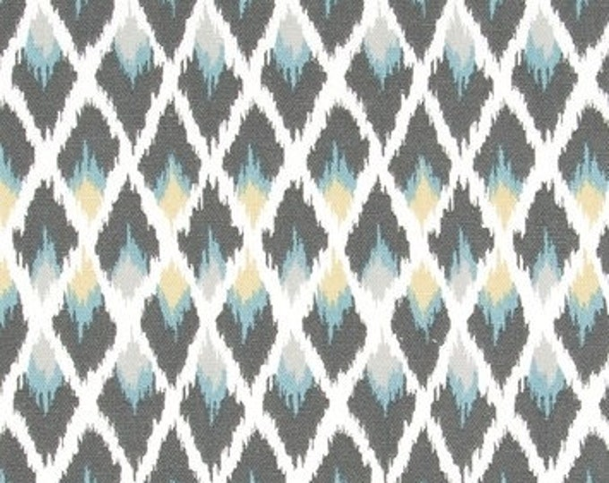 Designer Pillow Cover -  18 x 18, 20 x 20, 22 x 22, Euro  - RACRYP Diamond Ikat Rain