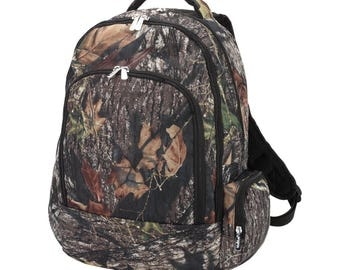 Personalized Camo Woods Backpack - Book Bag