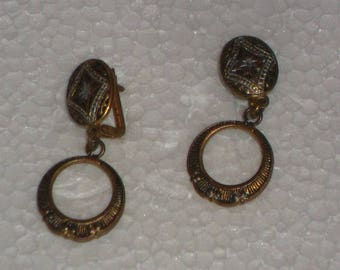 Vintage Damascene Feligree earrings