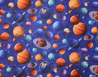 Northcott. Across The Universe. Planet Toss - Cotton fabric - By the Yard - Choose your cut