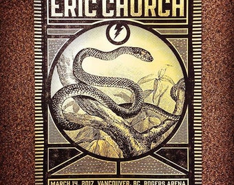 Eric Church Concert Poster, Vancouver, BC