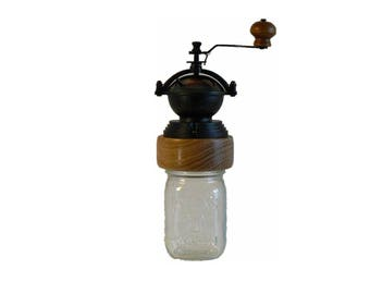 Mechanical Coffee Grinder - Coffee Mill - Fresh Ground Coffee – Canning Jar Base - Burr Grinder - Foodie -CJ-CG-25S