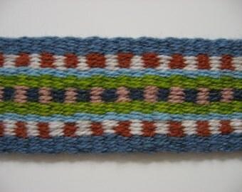 hand-woven wool banjo strap