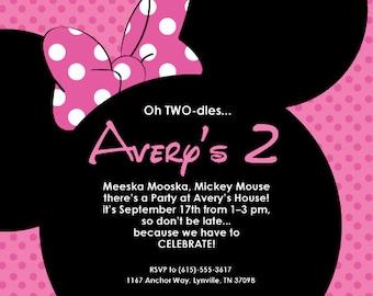 Minnie's 2nd Birthday 4x6 or 5x7