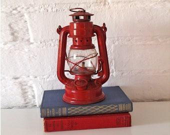 Vintage Red Oil Lamp - Vintage red lantern