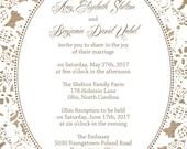 Rush Burlap and Lace Wedding Invitations, Rustic Summer Wedding, Custom Wedding Invitation Listing for amyshelton10