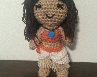 Little Moana doll, Disney Moana crochet disney