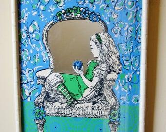 Vintage Mirror ALICE in WONDERLAND Maraliza FANTASY Mirror