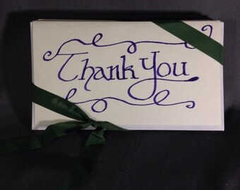 Calligraphy Thank You Notecards