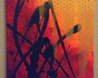 Sunset - abstract acrylic on canvas
