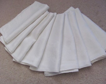 Set of 9 Beautiful Cotton Double Damask Dinner Napkins 23""