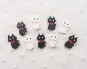 6pcs - Cute Kitty Mix Decoden Cabochon (23x14mm) ANM012