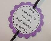 Purple Bachelorette Party Game Bracelets - set of 12