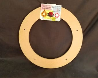 9in Floral and Craft Wreath Ring, 3RC, Pre-Drilled Holes