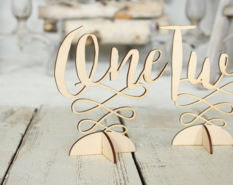 Freestanding Table Numbers Wedding Table Numbers Wood Table Numbers Rustic Wedding