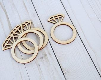 Diamond Ring Napkin Ring Bridal Shower Decor