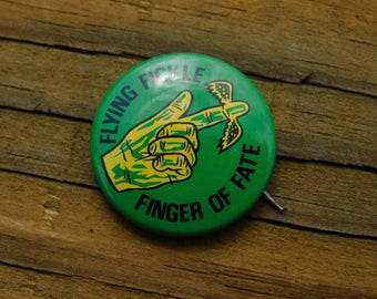 1960's Era Rowan and Martin's Laugh In TV show   Flying Fickle Finger of Fate Pin Pinback Button DR2
