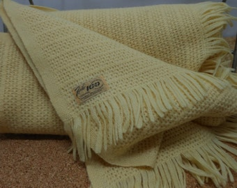 FARIBO Wool Blanket Fringed Throw 100 Year Anniversary EXCELLENT
