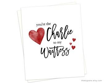 Charlie and Waitress, Always Sunny Card, Charlie Valentine, Always Sunny Charlie, TV Show Valentine