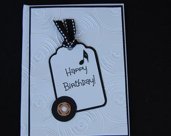 Happy Birthday Music Lover - Blank Card and Coordinating Envelope