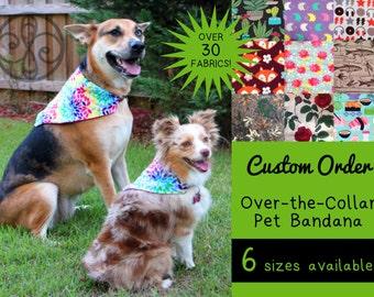 CUSTOM ORDER Reversible Pet Bandana