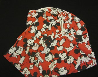 TWIN Sheets fitted & flat Mickey Mouse Sheets 1980s Vintage