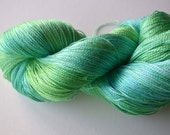 Lace Weight  Pure Silk  Hand Dyed Yarn (Free Pattern with this yarn)