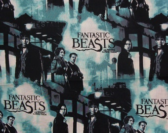 Fantastic Beasts and Where to Find Them Fabric, J K Rowling Movie, Harry Potter, By the Yard