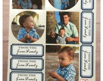 Custom Photo Sticker Sets Envelope Seals Adhesive Tags Wedding Christmas