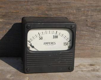 Westinghouse AC Amp Meter 0-150 Amps, Vintage