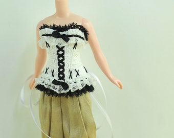 Pearls of Night Blythe Antique Line Raouken Corset for Blythe Tiny BJD Doll