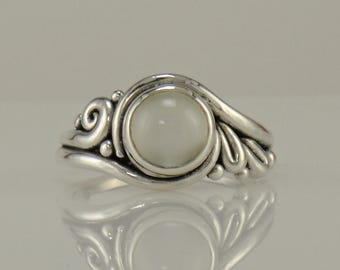 R1089- Sterling Silver Moonstone Ring- One of a Kind
