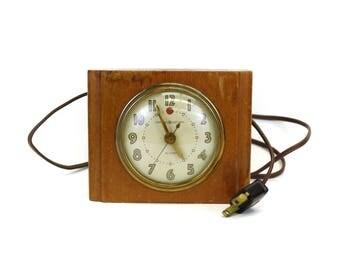 Vintage Wood GE Alarm Clock (E8454)