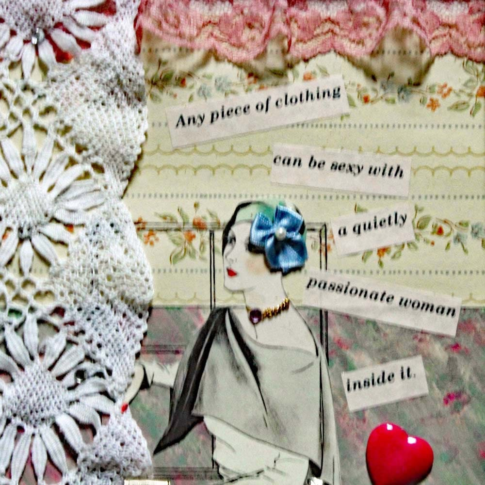 Mixed media wall art, woman quote, wall decor, collage quote, wall ...