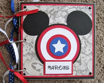 Disney Autograph Book - Captain America - Super Hero - Chipboard - Room for Photos - Super Hero - Avengers