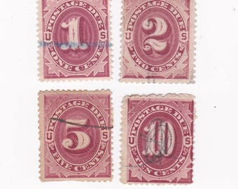 Used 1891 US Postage Due Stamps