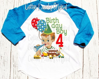 Birthday construction tee shirt baseball style raglan baseball style tshirt construction trucks pushing frosting any age applied