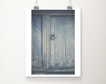 blue door photograph french door photograph blue door print rustic decor rustic photograph french decor blue door art Sarlat photograph